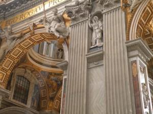 Interior of Saint Peter's Basilica, Rome, Italy, 2011, taken by Martha Wiggins