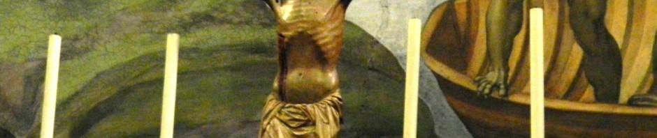 Crucifix in Sistine Chapel, taken by Martha McDuff Wiggins, 2012